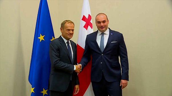 Tusk: Az EU Grúzia pártján áll