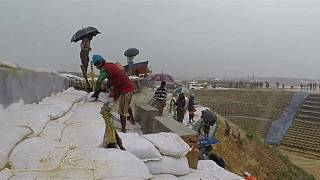 Refugee camps hit by monsoons in Bangladesh