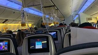 At least 35 people suffer minor injuries after Air Canada flight hit by severe turbulence