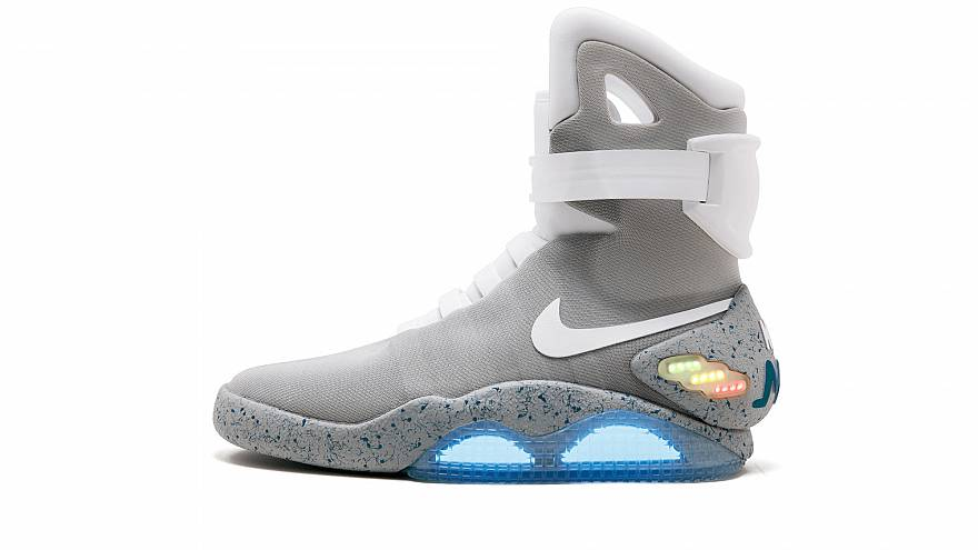 The Nike Mags sneaker worn by Marty McFly in Back to the Future Part II