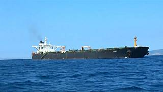La petroliera iraniana Grace 1 al largo di Gibilterra.
