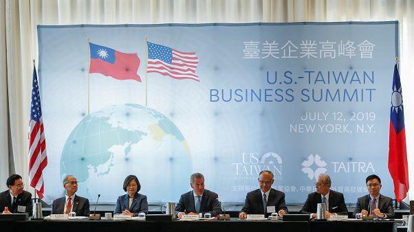 Tayvan lideri Tsai Ing-wen ABD'de temaslarda bulunuyor