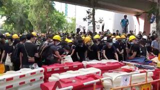 Hongkong: Neuer Gewaltausbruch bei Demonstrationen