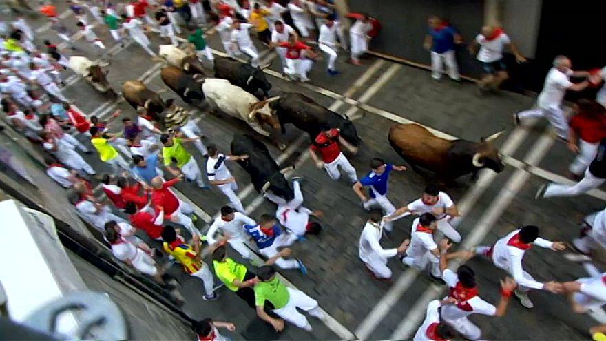 ویدئو؛ پنج زخمی در فستیوال گاوبازی «سن فرمین» اسپانیا