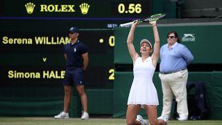 Wimbledon Tenis Turnuvası: Serena Williams'ı finalde 2-0 yenen Rumen Simona Halep şampiyon oldu