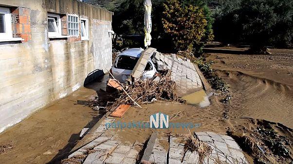 Σοβαρά προβλήματα σε Αχαϊα και Ναύπακτο από τις καταιγίδες