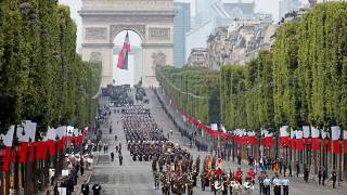 The military parade on the Champs Elysees in Paris is a big Bastille Day event