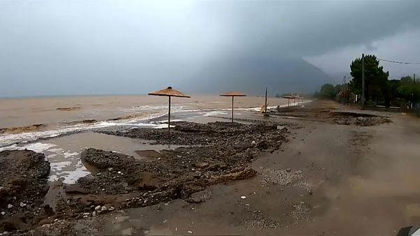 Peloponnes: Schwere Unwetter