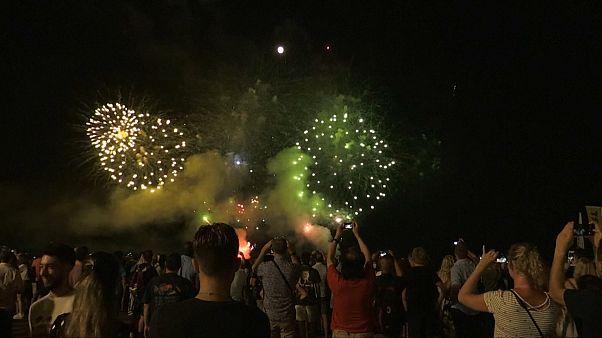 احیاء مراسم آتش بازی در شهر نیس فرانسه