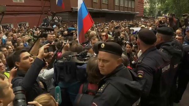 La oposición de Moscú reclama elecciones justas