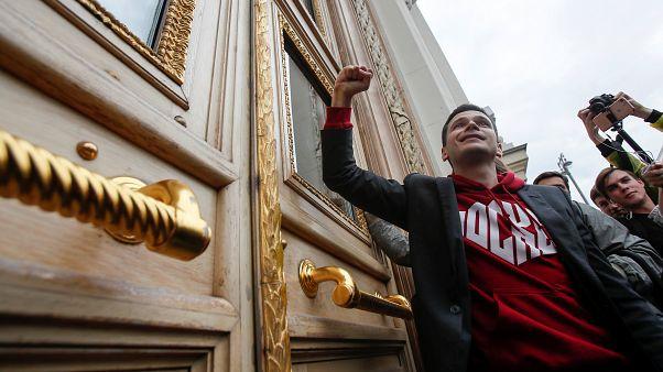 Tüntetés és őrizetbe vétel Moszkvában