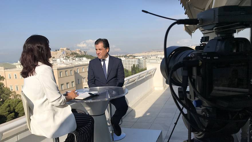 Adonis Georgiadis, Greece's new minister for growth and investments in Athens on July 15, 2019.