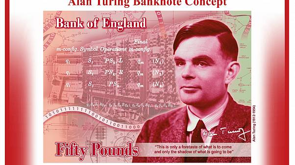The new £50 note will feature mathematician Alan Turing.