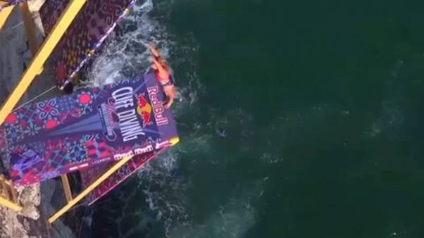 À Beyrouth, le Britannique Gary Hunt entre dans l'histoire du cliff diving