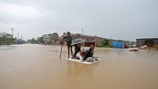 آثار السيول في الهند