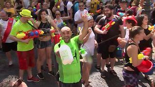 برگزاری جشن سالانه آبپاشی در مادرید