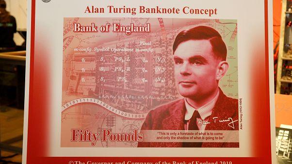 """بريطانيا تختار صورة كاسر شفرة """"إنيغما"""" آلان تورنغ لورقة نقدية جديدة"""