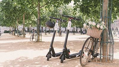 Bird e-scooters