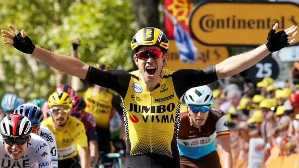 Tour de France: Belgier Wout Van Aert gewinnt zehnte Etappe