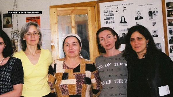 Natalia Estemirova con Anna Politkovskaya