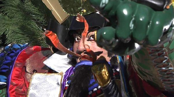Япония: фестиваль Хаката Гион Ямакаса
