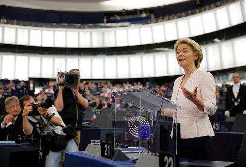Η Ούρσουλα φον ντερ Λάιεν στο Ευρωκοινοβούλιο