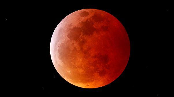 """Imagen de archivo de la """"luna de sangre"""" de enero"""
