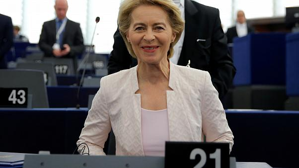 La candidata a presidir la Comisión Europea, Ursula von der Leyen