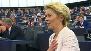 A pequena maioria de apoio a Ursula von der Leyen