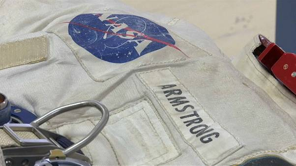 Watch: Neil Armstrong's spacesuit unveiled for public display