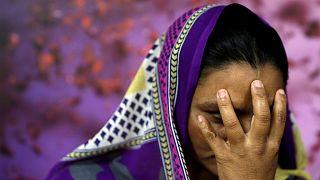 إحدى الناجيات من العبودية في نيودلهي بالهند طلبت عدم الكشف عن هويتها