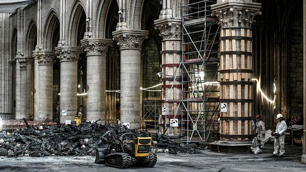 Notre Dame Katedrali'ndeki hasarın boyutu görüntülendi