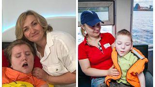 Елена Богомолова и Екатерина Коннова с детьми