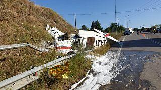 Αναγκαστική προσγείωση μονοκινητήριου αεροσκάφους σε παράδρομο της Εγνατίας Οδού