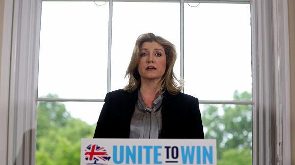 وزيرة الدفاع البريطانية بيني موردونت في لندن يوم 10 يونيو حزيران 2019. تصوير: سايمون دوسون - رويترز.