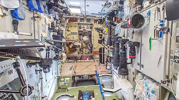 See 360-degree view inside International Space Station