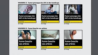 صور موجودة على علب التدخين في الاتحاد الأوروبي