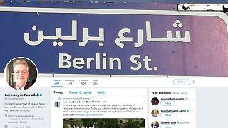 Screenshot: Twitter-Account der deutschen Vertretung in Ramallah