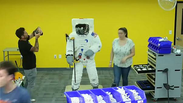 Watch: LEGO celebrate moon-landing with life-sized model astronaut
