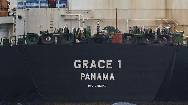 """ناقلة النفط """"غريس1"""" قبالة سواحل جبل طارق"""