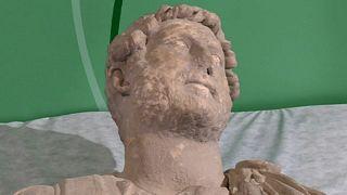 Descubierto en el sur de España un busto excepcional del emperador romano Adriano