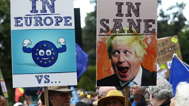 Protesters have marched through the capital in protest at Boris Johnson becoming prime minister