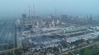چین؛ تصاویر هوایی از میزان تخریب در پی انفجار مهیب در کارخانه گاز