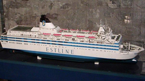 A model of the MS Estonia at the maritime museum of Tallinn