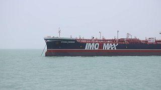 ناقلة النفط البريطانية ستينا إمبيرو في ميناء بندر عباس