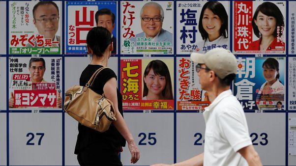 Japonya'da halk sandık başında: Başbakan Abe pasifist anayasayı değişmeyi amaçlıyor