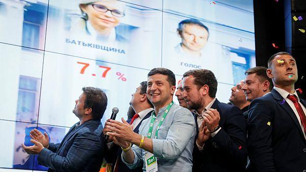 حزب «خادم خلق» زلنسکی پیروز انتخابات پارلمانی اوکراین شد