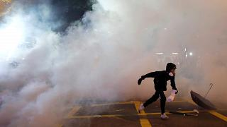 Hong Kong's Chief Executive Carrie Lam condemns Sunday's violent clashes