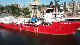 يبلغ طول القارب الجديد أوشن فايكنغ 69 متراً وعرضه 15 متراً