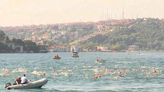 La travesía a nado por el Bósforo reúne a más de 2400 valientes